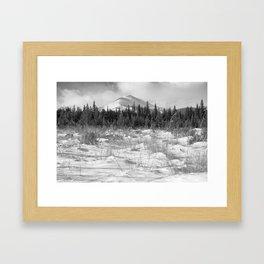 Snowy Peak Framed Art Print