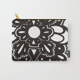 Black Lace Star Carry-All Pouch