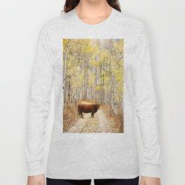 Cow in aspens Long Sleeve T-shirt