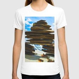 Inukshuk on Whistlers Mt in Jasper National Park, Canada T-shirt