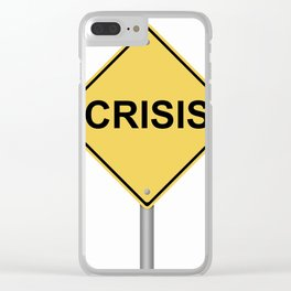 Crisis Warning Sign Clear iPhone Case