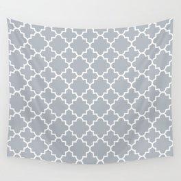 Classic Quatrefoil pattern, silver grey Wall Tapestry