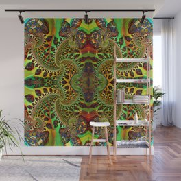 Psychedelic Fractal Geometry - different perspective Wall Mural