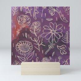 Purple Floral Mini Art Print