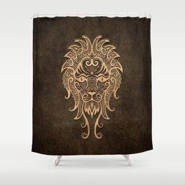 Vintage Rustic Leo Zodiac Sign Shower Curtain