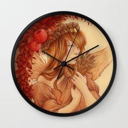 Hada de otoño Wall Clock