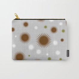 Star Burst Galaxy - Grey brown Green White Carry-All Pouch