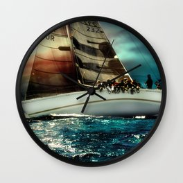 sailing race Wall Clock