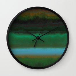 Summer Sunset Landscape Wall Clock