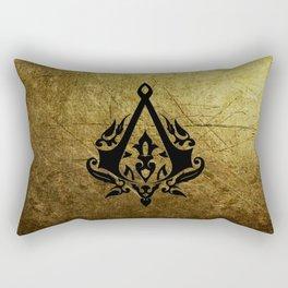Creed Assassins Grunge Logo Rectangular Pillow