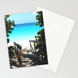 Trunk Bay walkway to beach, St. John Stationery Cards
