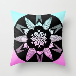DK-145 (2009) Blue and Pink Throw Pillow