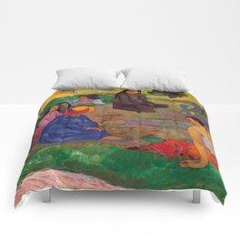 """Paul Gauguin """"Conversation"""" Comforters"""