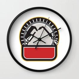 Welder Millwright Tools Circle Retro Wall Clock