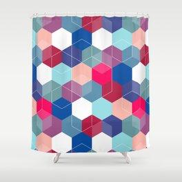 Hexies Shower Curtain