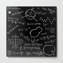 Chalkboard Math Equations Metal Print