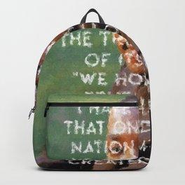 I have a dream - Martin Luther King Junior Wall Art Portrait, Speech, Home Decor, Dorm Decor Backpack