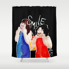 (Broad City) SMILE Shower Curtain