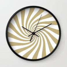 Swirl (Sand/White) Wall Clock