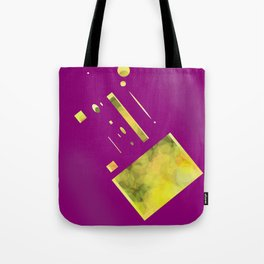 purple yellow Tote Bag