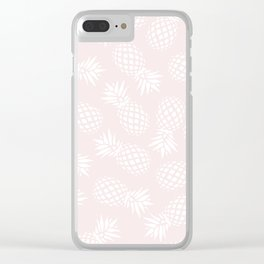Pineapple pattern on pink 022 Clear iPhone Case