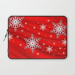 Abstract background with snowflakes Laptop Sleeve