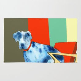 Great Dane in Chair #1 Rug