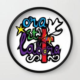 Ora Et Labora Wall Clock