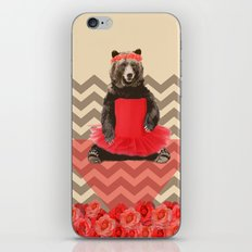 the bear who wanted to become a dancer iPhone & iPod Skin