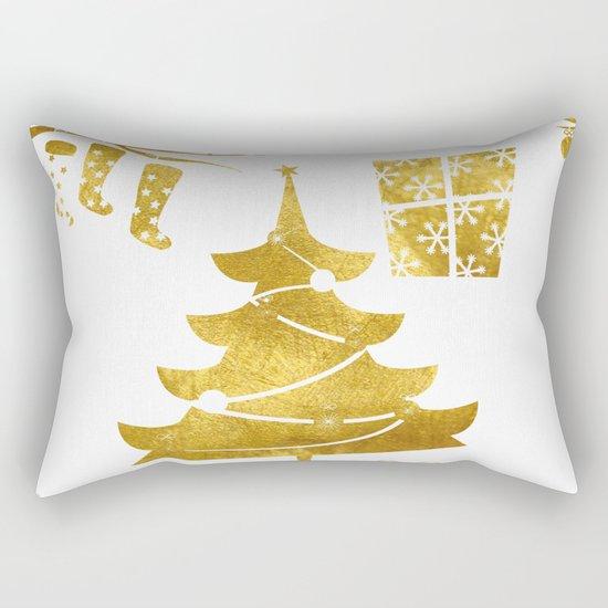 Gold Christmas 03 Rectangular Pillow