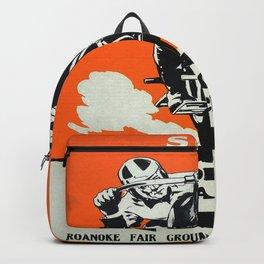 Vintage poster - Motorcycle Races Backpack