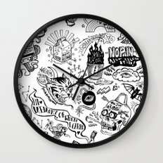 3am Thoughts Club Wall Clock