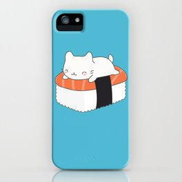 Kawaii Cute Sushi Cat iPhone Case
