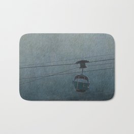 GONDOLA THROUGH THE RAIN Bath Mat