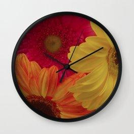 Gerbera Daisy Delight Wall Clock