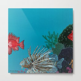 Scorpion & Bigeye fishes Metal Print