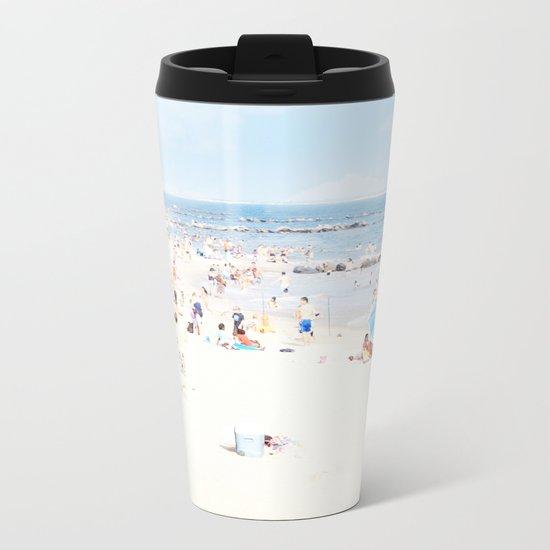 Blue Beach Brooklyn Metal Travel Mug