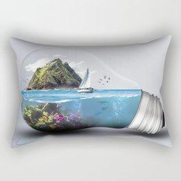 Lightbulb World Rectangular Pillow