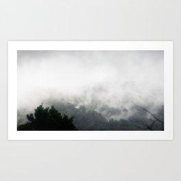 Fog on Arenal Art Print
