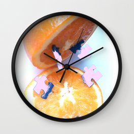 Pulped Puzzle Wall Clock