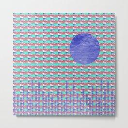 Blue Moon Rising Metal Print