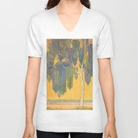 birch V-neck T-shirts featuring Birch 3 by Eugene Frost