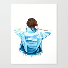 Girl with the Denim Jacket Canvas Print