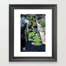I am right behind you Framed Art Print