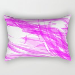 Pink and smooth sparkling lines of crimson ribbons on the theme of space and abstraction. Rectangular Pillow