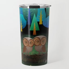 Owl Pals In The Forest Travel Mug