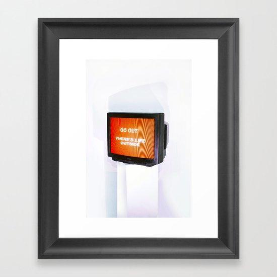 DOMESTIC ABUSE Framed Art Print