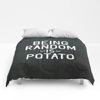 Comforters featuring Random by Vectored Life