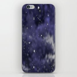 Holidaze Purple with SnowFlakes by CheyAnne Sexton iPhone Skin