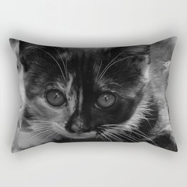 kitty watching Rectangular Pillow